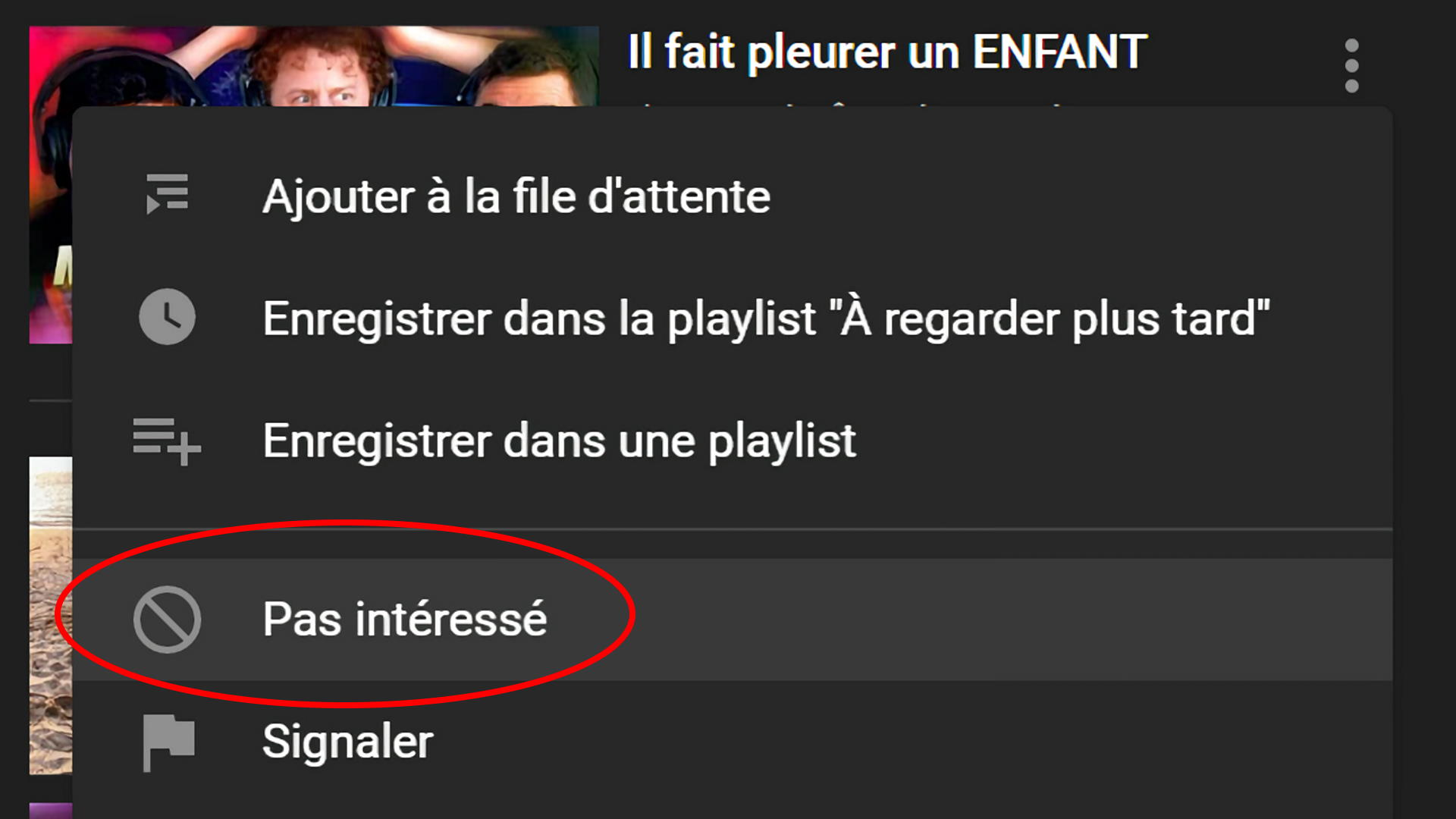 L'algorithme de YouTube